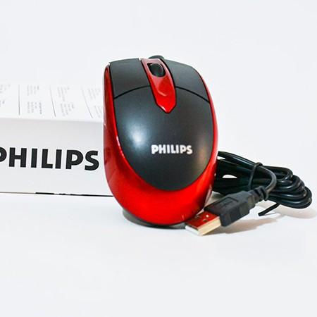 22k - Chuột có dây Philips đỏ loại 1 giá sỉ và lẻ rẻ nhất